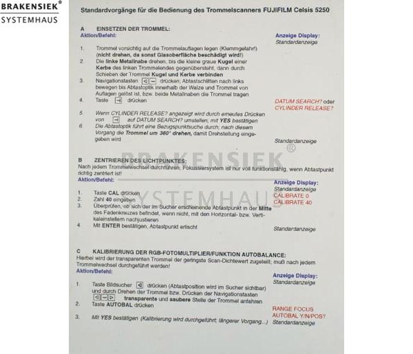 Fuji Celsis 5250 C.A.S.C. Trommelscanner/Drumscanner - Machine is ...